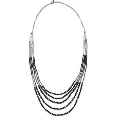 Nakamol Beaded Multi-Strand Tiered Necklace ($23) ❤ liked on Polyvore