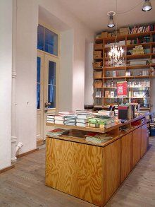 Pinner before:Literatur Moths  Regina Moth's store in the Gärtnerplatzviertel is a bookworms' and aesthetes' dream. With its creative display windows, lofty interior, and of course the competent staff above all, it is considered by many to be Munich's best and most beautiful bookstore.