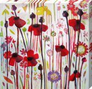 Above the fire? - June Poppy print by Shyama Ruffell - WorldGallery.co.uk