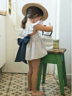Get ready for days full of tea parties with this adorable romper and sunhat. #summerstyle