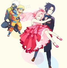 Sakura, Sasuke, Naruto and Kakashi