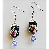 Cherry Chick: Cottage Rose Earrings