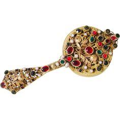 Antique Austrian Jeweled Compact 'EXQUISITE