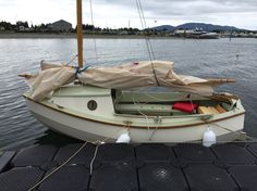 """11' 11"""" Scamp micro-cruiser designed by John Welsford. This one built by Dale Simonson in Vancouver, BC."""