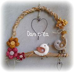 Crea-Sol - Colgante con pajaritos y flores paso a paso de web !!!