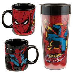 Spider-Man Ceramic Mug and Plastic Travel Mug Set $15.99