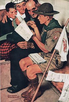 Boy Scouts Friendly To All 1943 Art Norman Rockwell