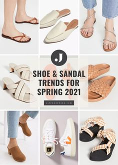 When transitioning my wardrobe for spring, one of the first things to go is my boots, so let's discuss shoe trends for spring 2021. From trendy fashion sneakers to embellished sandals and menswear inspired shoes, there's plenty to choose from.