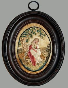 Miniature Silk Embroidery from the collection of Susan B. Swan, 18th Century