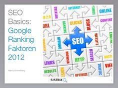 SEO BASICS: Google Ranking Faktoren 2012