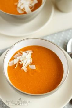 Soup Recipes, Healthy Recipes, Hot Soup, Looks Yummy, Thai Red Curry, Food And Drink, Vegetarian, Meals, Vegan