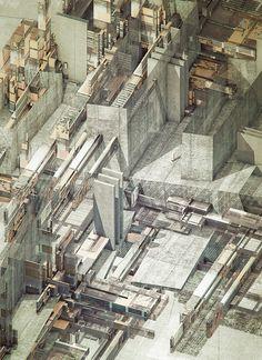 AER_AXO_Structures 2 by atelier olschinsky , via Behance