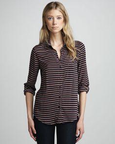 Splendid | Striped Knit Button-Down - CUSP