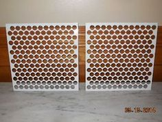Small basic penny floor template tray template trays and pennies maxwellsz