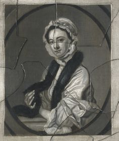 English School, A Trompe L'Oeil with a portrait of Mrs Faber, the Engraver's Wife, after Thomas Hudson, 1740s-50s Lot | Sotheby's