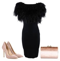 """""""#black"""" by mary-275 on Polyvore featuring Mode, Gianvito Rossi, Giambattista Valli und Jimmy Choo"""