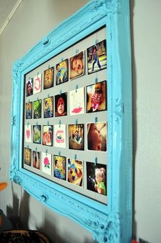 Unique wall photo display ideas for you 6