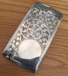 Business card holder antique business card holder silver plated antique sterling silver card case 1911 colourmoves Choice Image