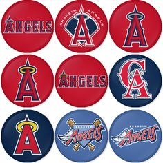 "Anaheim Angels MLB 1.75"" Badges Pinbacks, Mirror, Magnet, Bottle Opener Keychain http://www.amazon.com/gp/product/B00K450B2I"