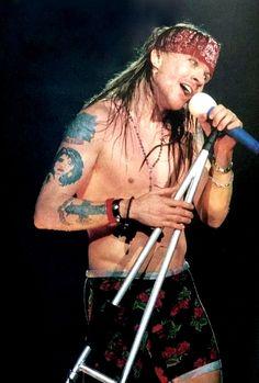 Axl Rose of Guns N' Roses, early 90s #axlrose #rockicon #rockstar #gnr #waxlrose…