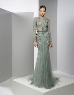 Gray dress from Zayed Naked collection 2013