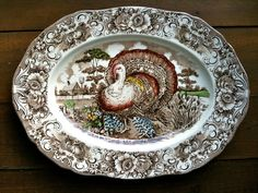 transferware turkey platter