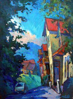 orest tsyupko Building Painting, Love Painting, Landscape Art, Landscape Paintings, Monuments, Cityscape Art, Art For Art Sake, Russian Art, Art Techniques