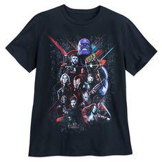 Avengers Endgame Poster Thanos Ironman Hulk Officiel Marvel Noir T-shirt femme
