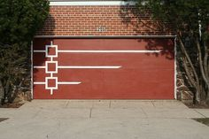 MCM garage door. Circles or triangles rather than squares