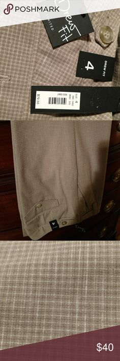 Limited size 4 drew pant tan plaid Tan plaid pattern pants. Never worn, new with tags. Size 4, fits true to size. Boot cut The Limited Pants Boot Cut & Flare