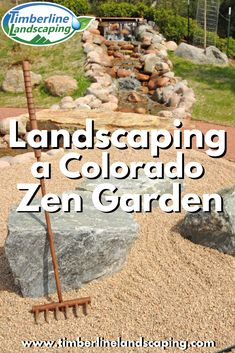 We decided to take on the challenge of landscaping a zen garden in Colorado, but not without a few adaptations to accommodate the dry climate. Colorado Landscaping, Backyard Landscaping, Landscape Design, Garden Design, Residential Landscaping, Landscape Lighting, Lawn Care, Gardening Tips, Zen