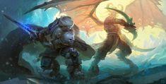 ArtStation - Arthas vs Illidan, Timur Dairbayev