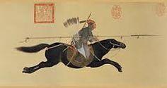 Ayusi brandissant sa lance anéantit les rebelles, 1755, rouleau horizontal, encre et couleurs sur papier, Musée national du palais, Taipei