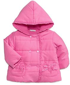 First Impressions Baby Jacket, Baby Girls Rubellite Ruffle Jacket - Kids Baby Girl (0-24 months) - Macy's