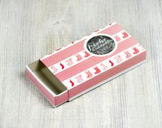 Geschenkbox Rot Weiß weihnachtlich von Gisa's auf DaWanda.com