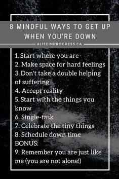 Here are 8 wisdom-filled tools to help you get up again when you fall - because you will inevitably fall or feel down sometimes just like me. Meditation Meaning, Daily Meditation, Mindfulness Meditation, Meditation Images, Quotes To Live By, Life Quotes, Get Back Up, Self Compassion, Feeling Down