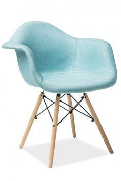 Scaun tapitat din lemn Bono Mint #homedesign #inspiration #interiordesign #blue  #marine #tropical Eames, Tropical, Mint, Chair, Interior, Blue, Inspiration, Furniture, Design