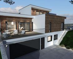 Layout, Modern House Design, Interior Architecture, Villa, House Ideas, Room Decor, Construction, Exterior, Mansions