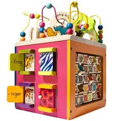Holiday Gift Guide: 30 Best Gifts For Babies- Toys Zany Zoo Wooden Activity Cube