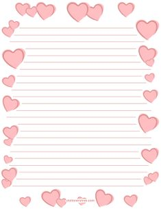 valentine hearts graph printable