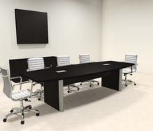 Modern Boat Shaped 10 Feet Conference Table Of Con Cp5 With Images Conference Table Conference Room Table Design Table