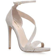 Carvela Kurt Geiger Gosh High Heel Sandals ($155) ❤ liked on Polyvore featuring shoes, sandals, high heel stilettos, stilettos shoes, stiletto sandals, stiletto high heel shoes and metallic sandals