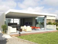 modern beach house open space