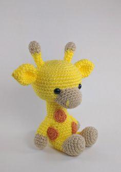 PATTERN: Crochet giraffe pattern  amigurumi giraffe pattern by TheresasCrochetShop
