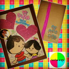Tarjetas personalizadas Surprise For Him, Ideas Para Fiestas, Boyfriend Gifts, Fig, Collages, Diy And Crafts, Best Friends, Scrapbook, Letters
