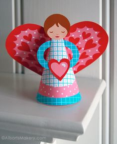 Printable Valentine angel