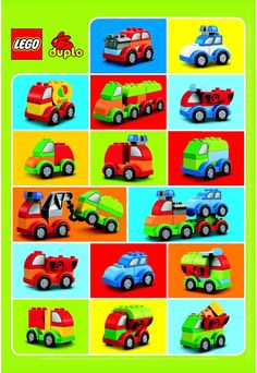 Duplo - Creative Cars. This website has instructions for all types of Lego creation