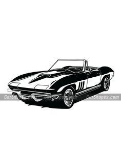 1965 CHEVROLET CORVETTE (C2) Vector (Free to download) Corvette C2, Chevrolet Corvette, Chevy, Car Vector, Vector Free, Vector Illustrations, Laser Engraving, Mazda, Prints