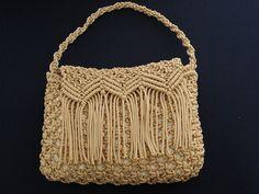 Macrame Bag, Macrame Knots, Micro Macramé, Straw Bag, Purses And Bags, Handmade, Crafts, Crochet Tote, Twine Crafts