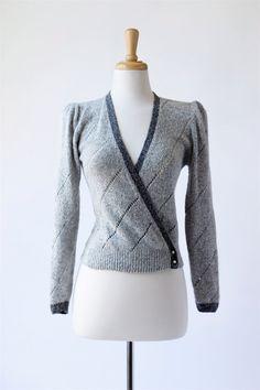 1980's vintage silk/angora wrap sweater